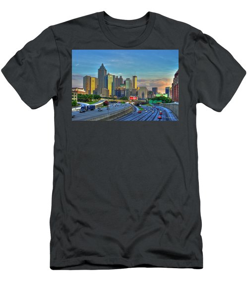 Atlanta Coca-cola Sunset Reflections Art Men's T-Shirt (Athletic Fit)