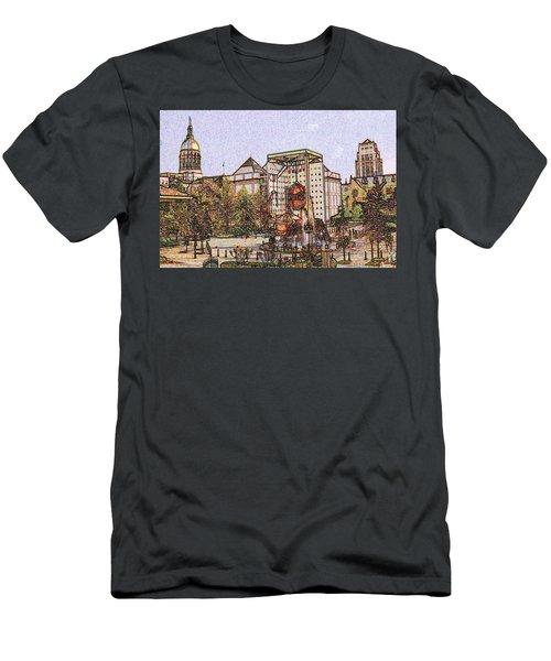 Atlanta Georgia Usa - Color Pencil Men's T-Shirt (Athletic Fit)