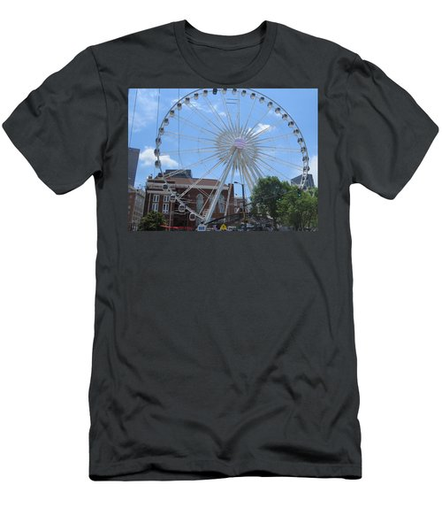 Men's T-Shirt (Athletic Fit) featuring the photograph Atlanta Wheel by Aaron Martens
