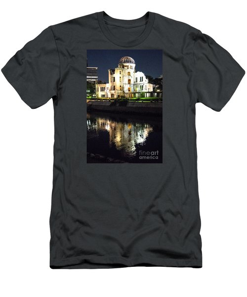 Men's T-Shirt (Slim Fit) featuring the photograph Atomic Dome - Symbol Of Destruction And Hope by Pravine Chester
