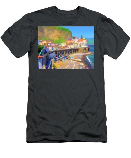 Atrani Italy 01 Men's T-Shirt (Slim Fit) by Wally Hampton