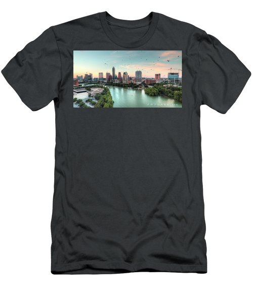 Atx Bats Men's T-Shirt (Slim Fit) by Andrew Nourse