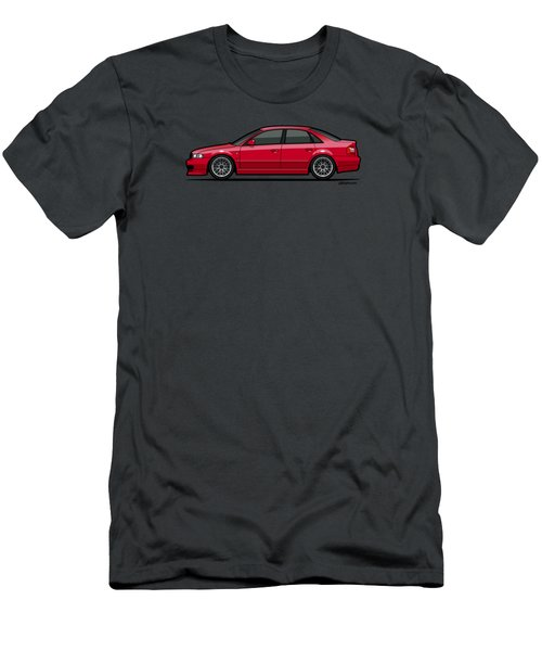Audi A4 Quattro B5 Type 8d Sedan Laser Red Men's T-Shirt (Athletic Fit)