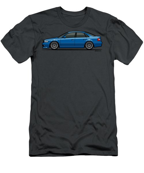 Audi A4 Quattro B5 Type 8d Sedan Nogaro Blue Men's T-Shirt (Athletic Fit)