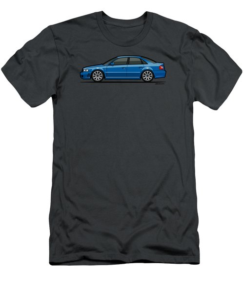 Audi A4 S4 Quattro B5 Type 8d Sedan Nogaro Blue Men's T-Shirt (Slim Fit) by Monkey Crisis On Mars