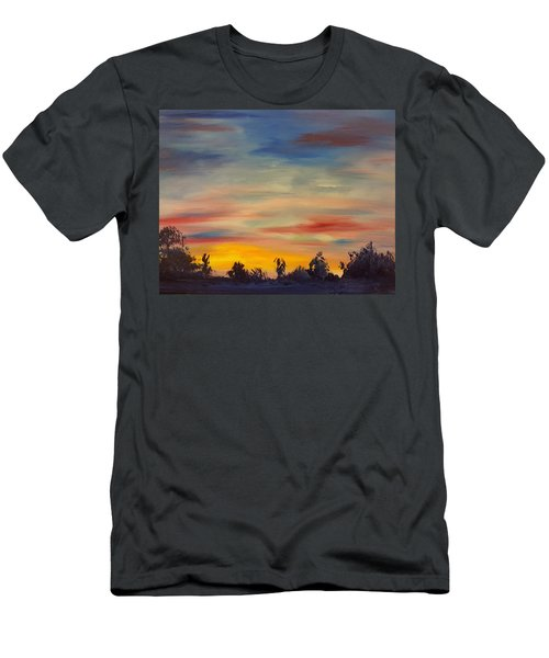 August Sunset In Sw Montana Men's T-Shirt (Athletic Fit)