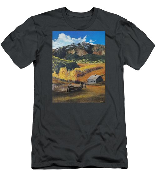 Autumn Nostalgia Wilson Peak Colorado Men's T-Shirt (Athletic Fit)