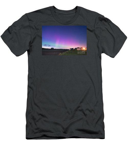 Aurora Energized Pepper Fields Men's T-Shirt (Slim Fit) by Patrick Fennell