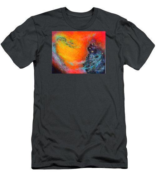 Fantasies In Space Series Painting. Aurora Galaxy Men's T-Shirt (Athletic Fit)