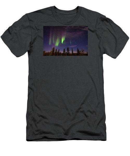 Aurora Nights Men's T-Shirt (Slim Fit) by Serge Skiba