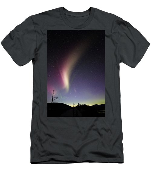 Auroral Phenomonen Known As Steve 2 Men's T-Shirt (Athletic Fit)