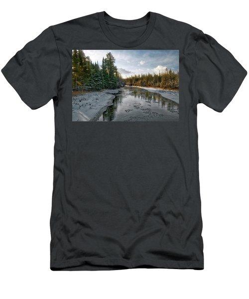 Ausable River 1282 Men's T-Shirt (Slim Fit) by Michael Peychich