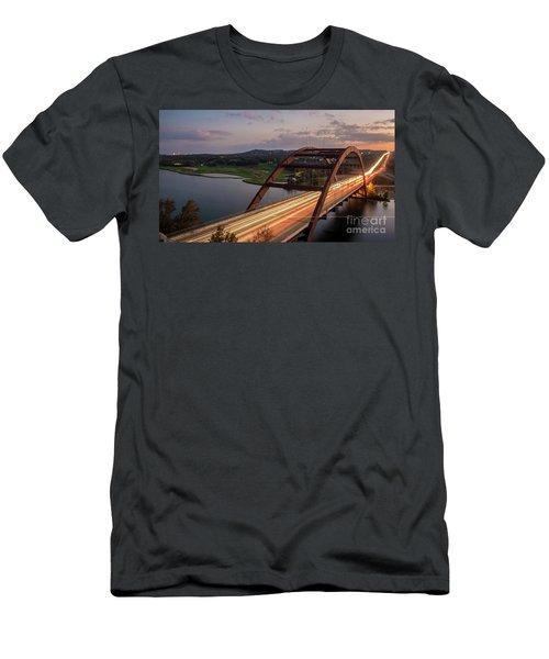 Austin 360 Bridge At Night Men's T-Shirt (Athletic Fit)