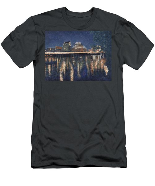 Austin At Night Men's T-Shirt (Athletic Fit)