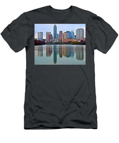 Austin Shimmer  Men's T-Shirt (Slim Fit) by Frozen in Time Fine Art Photography