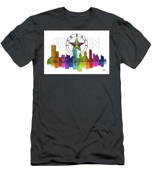 Austin Texas Skyline Men's T-Shirt (Athletic Fit)