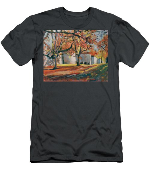 Autumn Along Maastricht City Wall Men's T-Shirt (Slim Fit) by Nop Briex