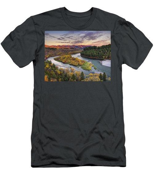 Autumn Along The Snake River Men's T-Shirt (Athletic Fit)