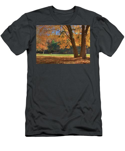 Men's T-Shirt (Slim Fit) featuring the photograph Autumn At Lykens Glen by Lori Deiter