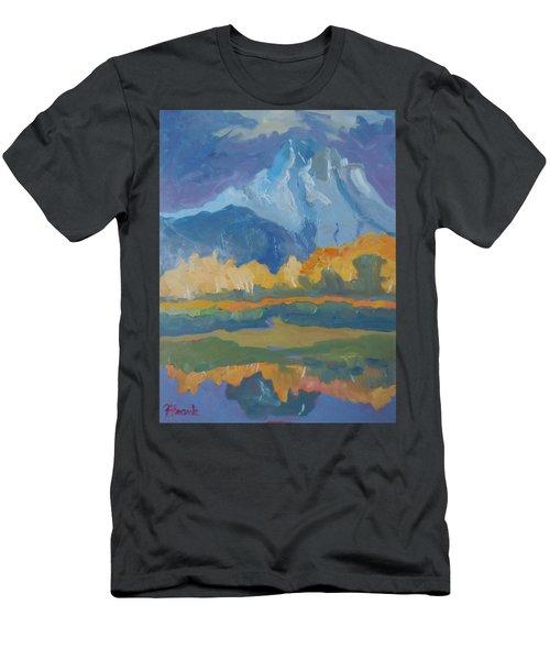 Autumn At Mt. Moran Men's T-Shirt (Slim Fit) by Francine Frank