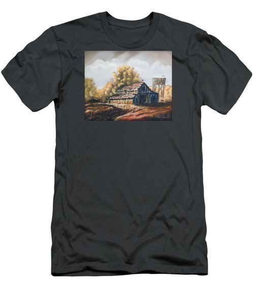 Autumn Barnyard Men's T-Shirt (Slim Fit) by Sherril Porter