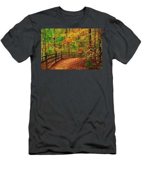 Autumn Bend - Allaire State Park Men's T-Shirt (Athletic Fit)