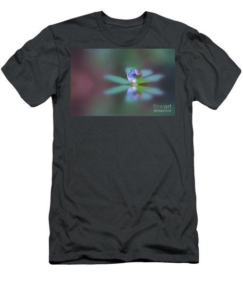 Autumn Clover Droplet Men's T-Shirt (Slim Fit)