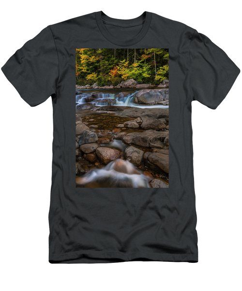 Men's T-Shirt (Slim Fit) featuring the photograph Autumn Colors In White Mountains New Hampshire by Ranjay Mitra
