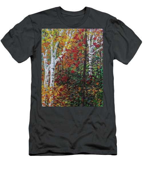 Autumn Colors Men's T-Shirt (Slim Fit) by Mike Caitham