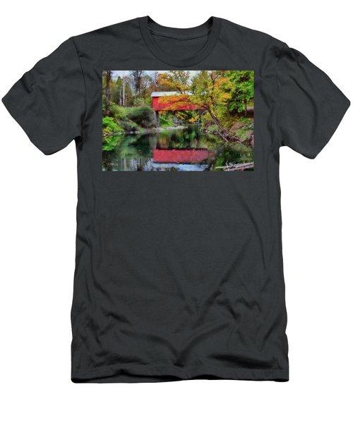 Autumn Colors Over Slaughterhouse. Men's T-Shirt (Athletic Fit)