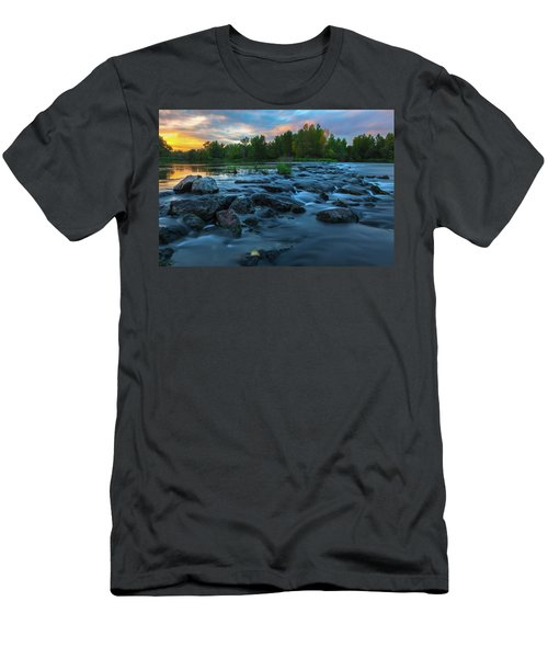 Men's T-Shirt (Athletic Fit) featuring the photograph Autumn Comes by Davor Zerjav