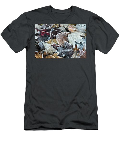 Men's T-Shirt (Athletic Fit) featuring the photograph Autumn Ends, Winter Begins 1 by Linda Lees