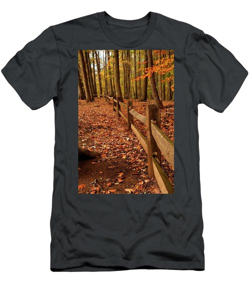 Men's T-Shirt (Athletic Fit) featuring the photograph Autumn Fence by Angie Tirado