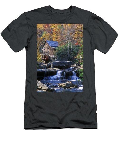 Autumn Grist Mill - Fs000141 Men's T-Shirt (Athletic Fit)