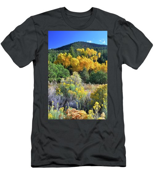 Men's T-Shirt (Athletic Fit) featuring the photograph Autumn In The Canyon by Ron Cline