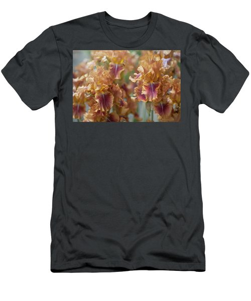 Autumn Leaves Irises In Garden Men's T-Shirt (Athletic Fit)