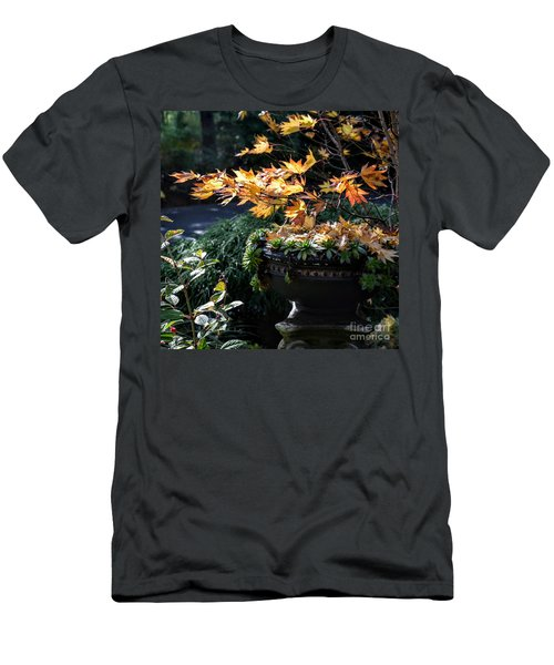 Autumn Maple And Succulents Men's T-Shirt (Slim Fit) by Tanya Searcy