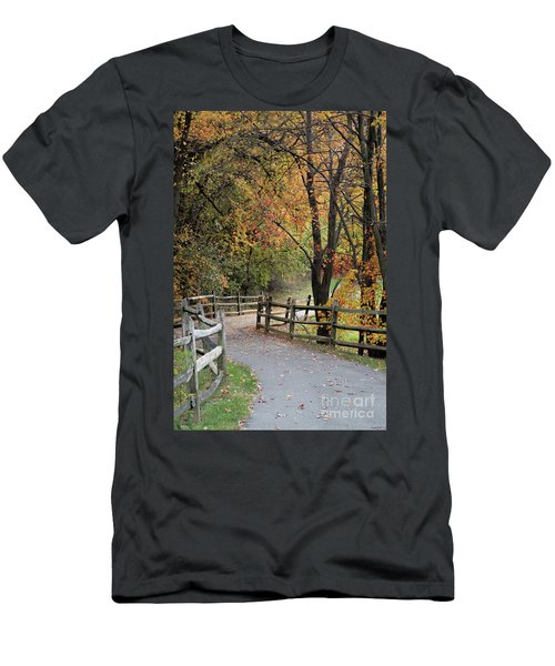 Autumn Path In Park In Maryland Men's T-Shirt (Athletic Fit)
