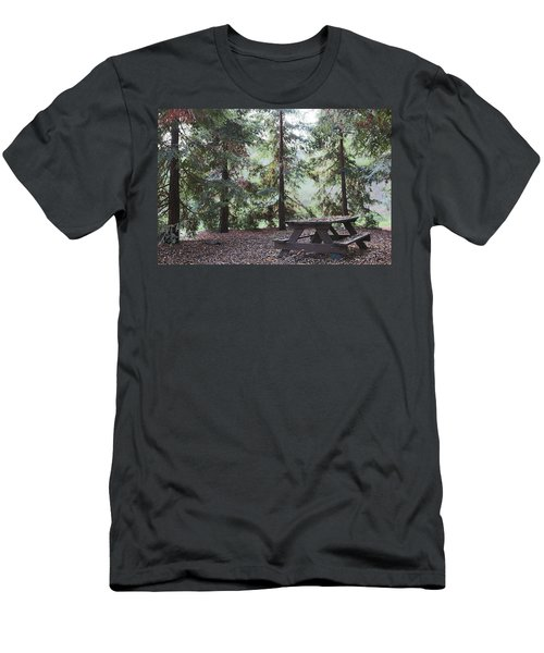 Autumn Picnic In The Woods  Men's T-Shirt (Athletic Fit)