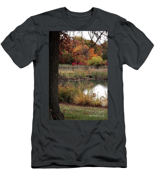 Autumn Pond In Maryland Men's T-Shirt (Athletic Fit)
