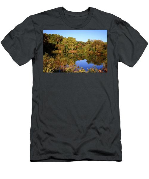 Men's T-Shirt (Athletic Fit) featuring the photograph Autumn Reflection by Angie Tirado