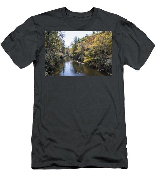 Autumn River Men's T-Shirt (Slim Fit) by Ricky Dean