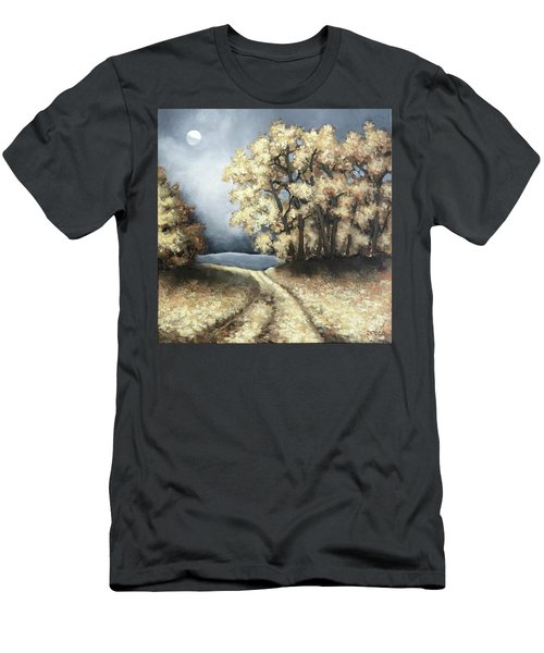 Autumn Road Men's T-Shirt (Slim Fit) by Inese Poga