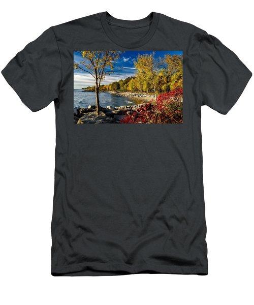 Autumn Scene Lake Ontario Canada Men's T-Shirt (Athletic Fit)