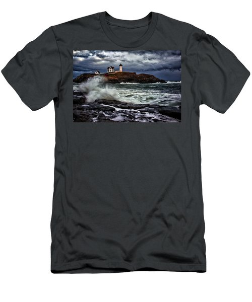 Autumn Storm At Cape Neddick Men's T-Shirt (Athletic Fit)