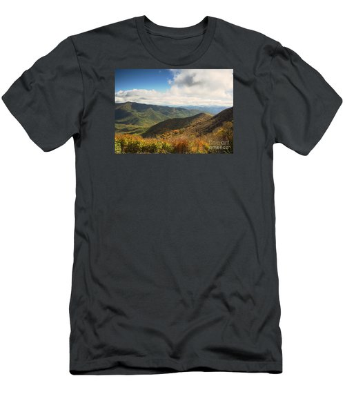Autumn Storm Clouds Blue Ridge Parkway Men's T-Shirt (Athletic Fit)