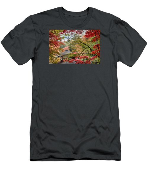 Men's T-Shirt (Slim Fit) featuring the photograph Autumn  by Tad Kanazaki