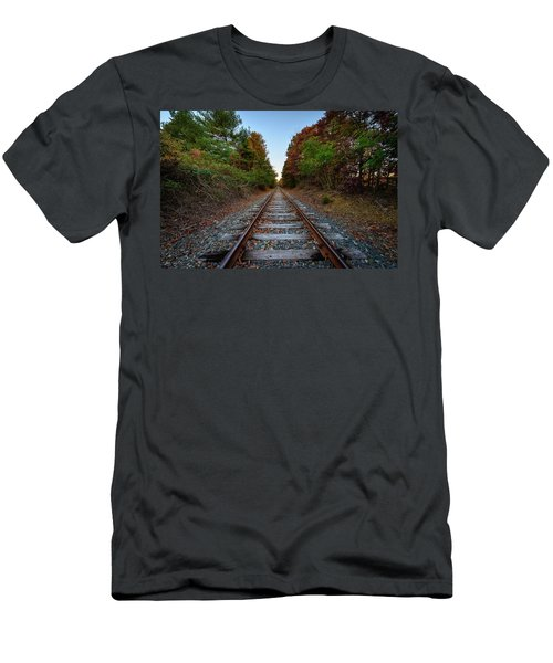 Autumn Train Men's T-Shirt (Athletic Fit)