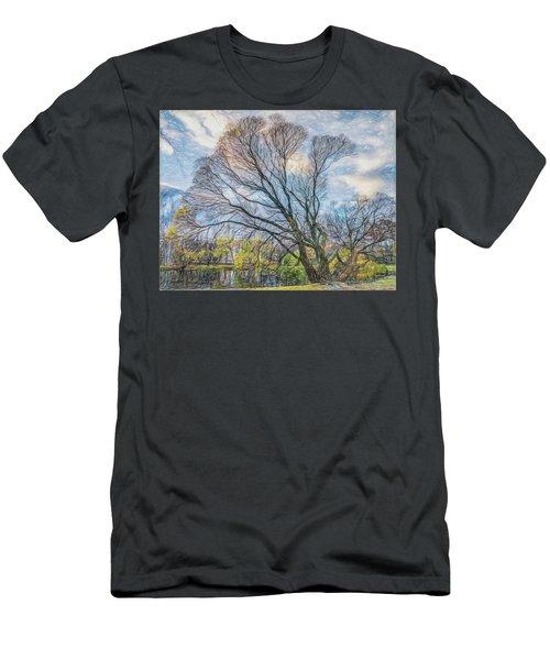 Autumn Tree Men's T-Shirt (Slim Fit) by Vladimir Kholostykh