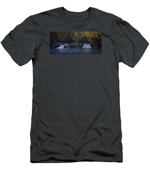 Men's T-Shirt (Slim Fit) featuring the photograph Autumn Waterfall  by Ellen Heaverlo